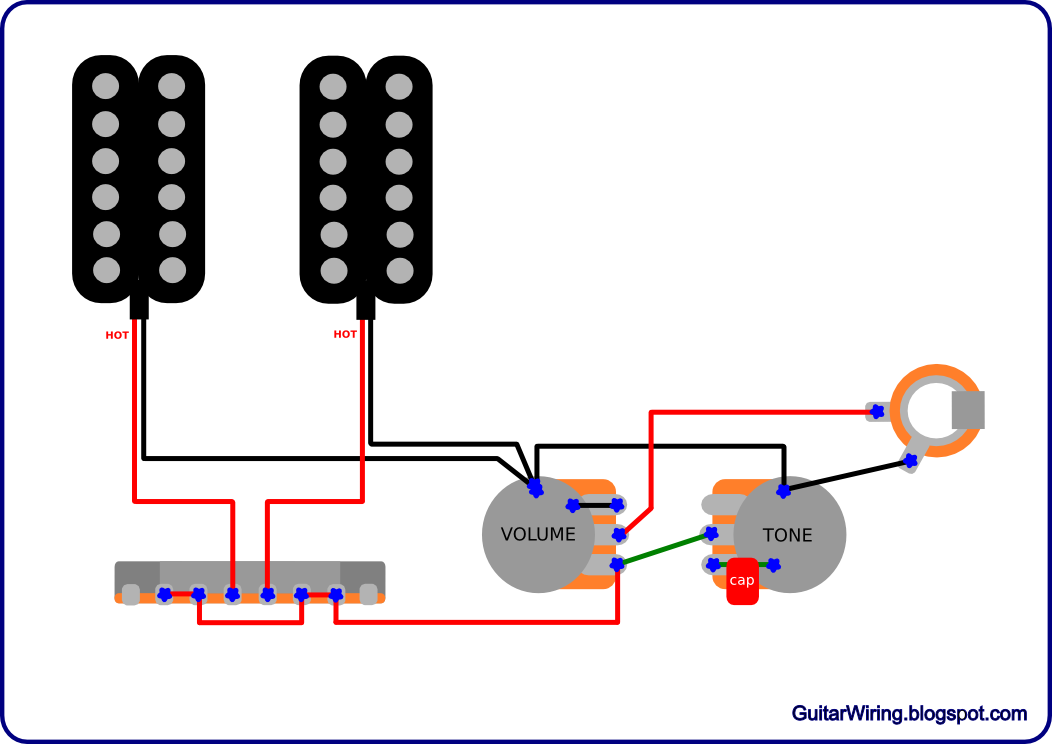 wiring diagram two humbuckers one volume one tone on wiring images, Wiring diagram