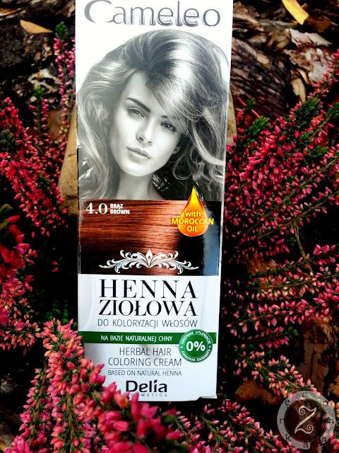 Cameleo, henna ziołowa do koloryzacji włosów, 4.0 Brąz