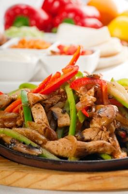 Recetas de cocina saludables y fáciles: Fajitas de pollo mexicanas