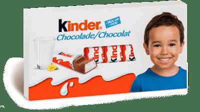 enfant kinder chocolat