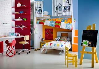 Decoración de dormitorio para niño