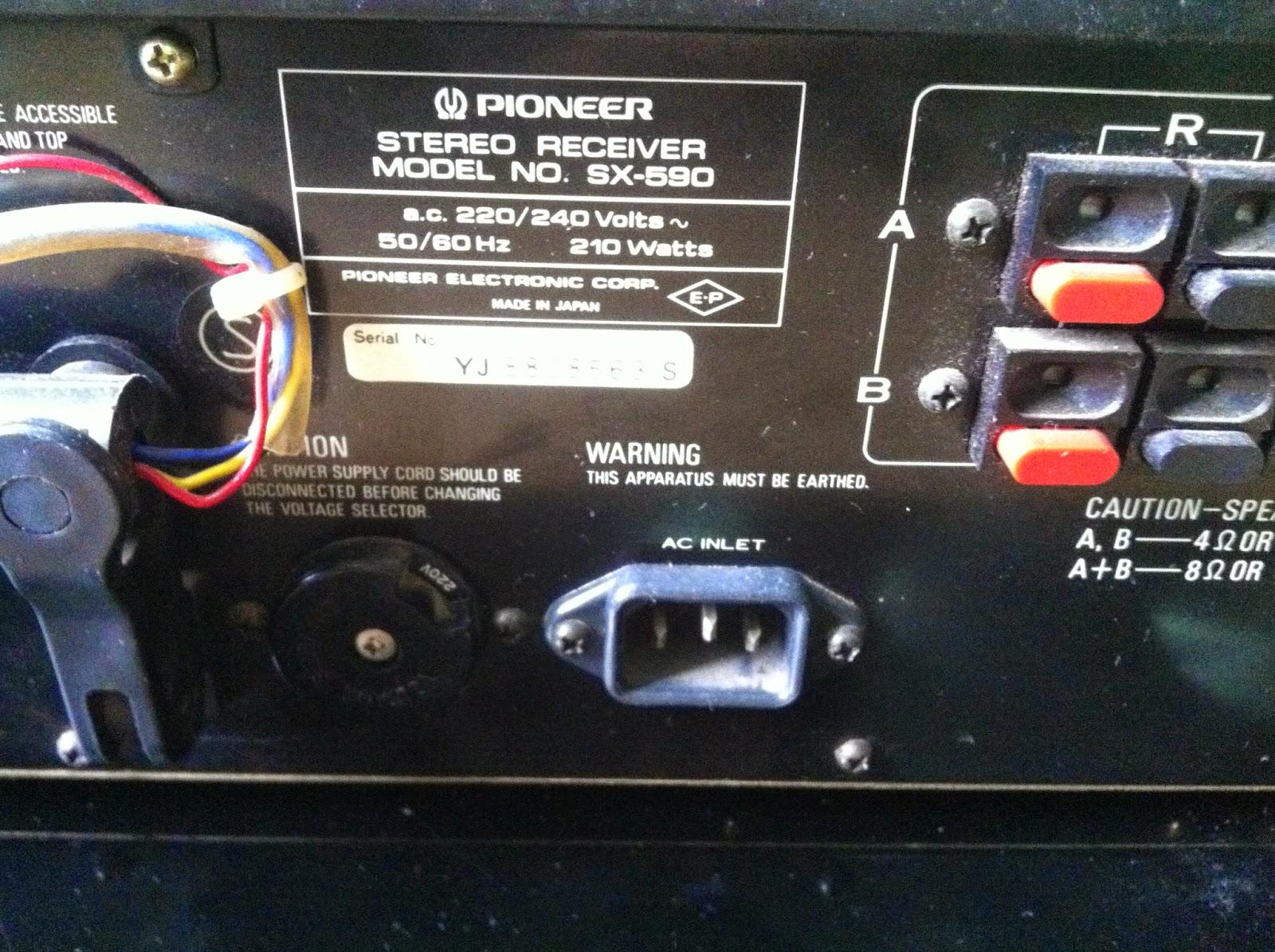 Cận cảnh phần sau Amply SX-590