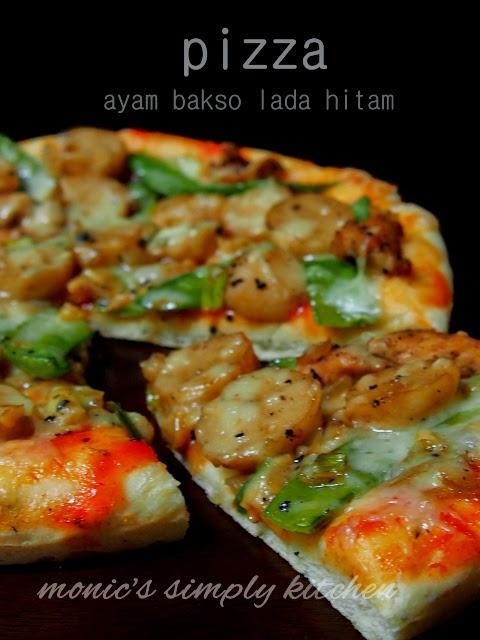 resep pizza ayam lada hitam
