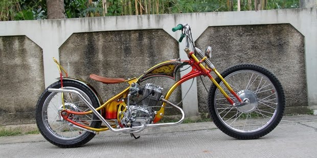 Modifikasi Honda GL 100 Gaya Chopper, Cool Abis title=