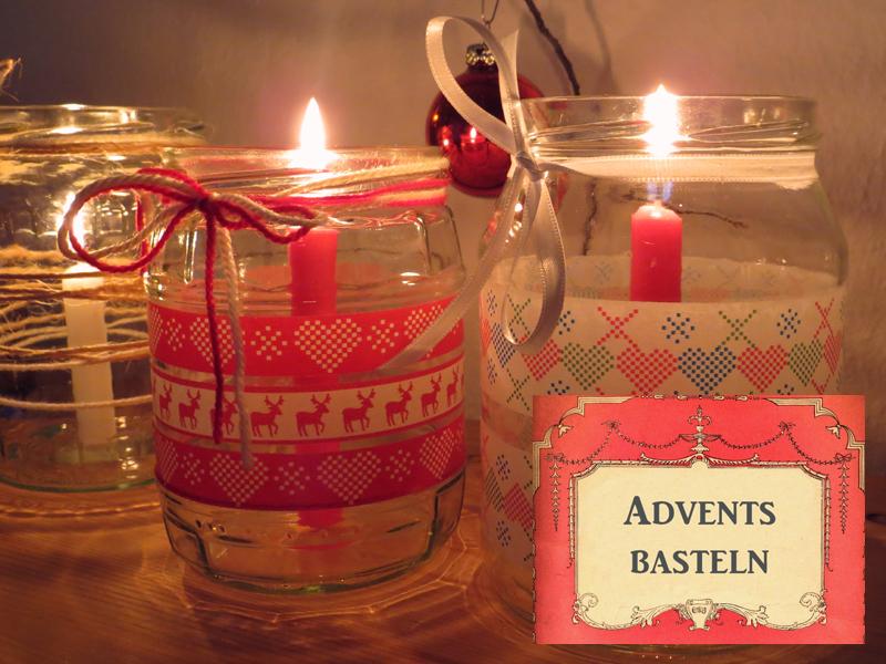 Basteln weihnachtslichter weihnachten  Centi bastelt: Kerzenhalter aus Einmachgläsern