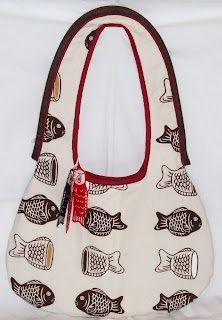 fishes tote {reversible!}