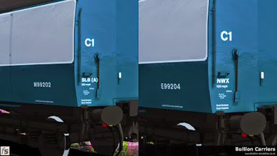 Fastline Simulation - Bullion Carriers: Numbers and lettering in place on the bullion van, complete with code variation.