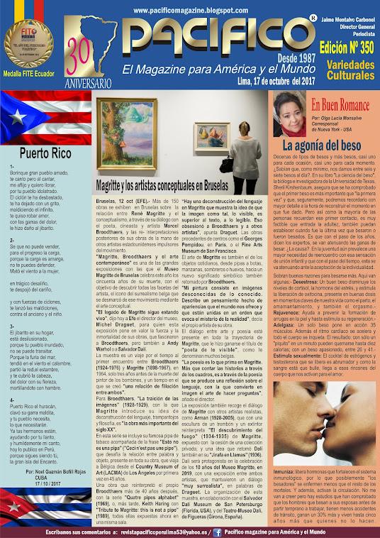 Revista Pacífico Nº 350 Variedades Culturales