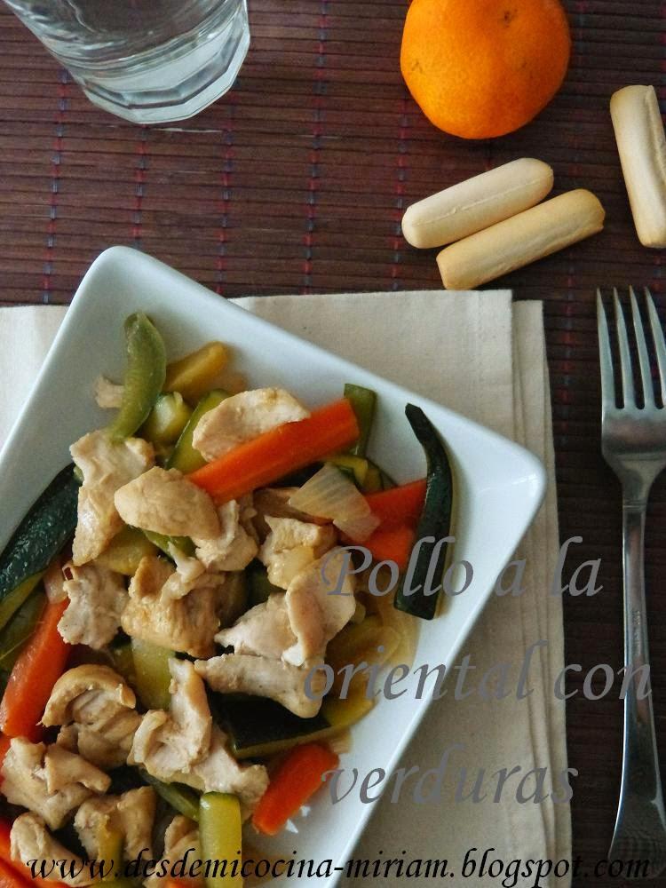Pollo estilo oriental con verduras