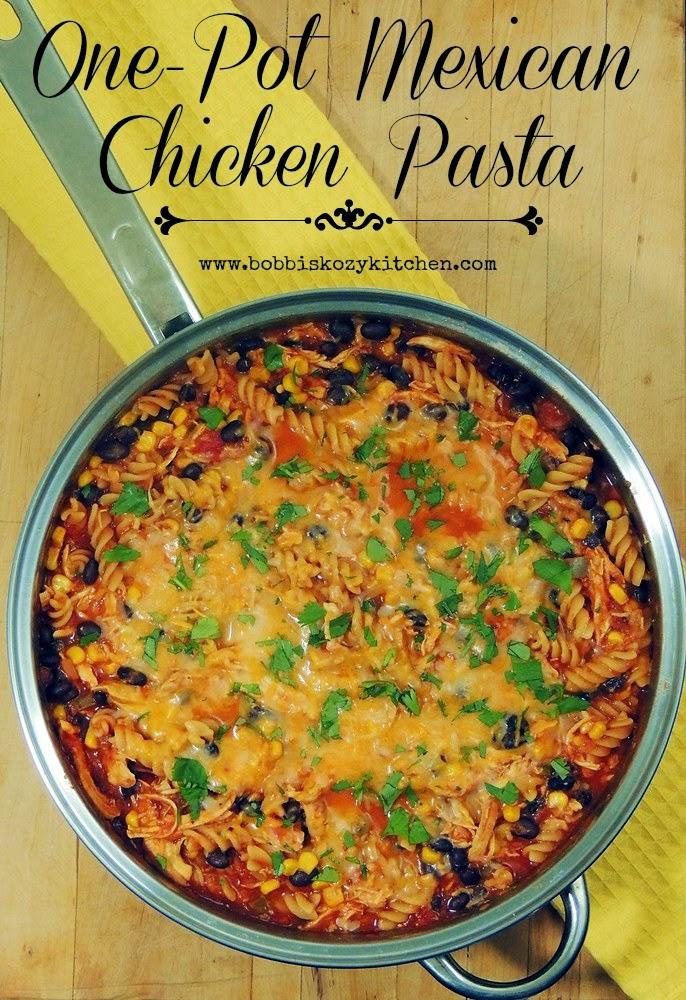 One-Pot Mexican Chicken Pasta from www.bobbiskozykitchen.com