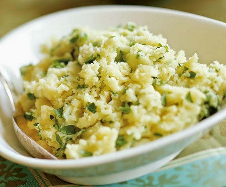 Purê de Batata com Salsinha (vegana)