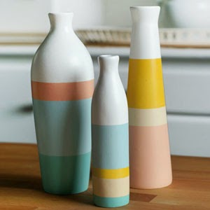 Ma Bicyclette - Buy Handmade - Ceramics - Shade on Shape - 3 Pastel Vases