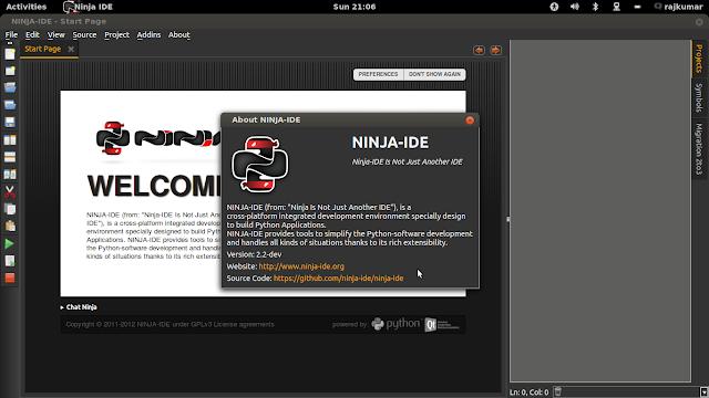 ninja-ide screenshot