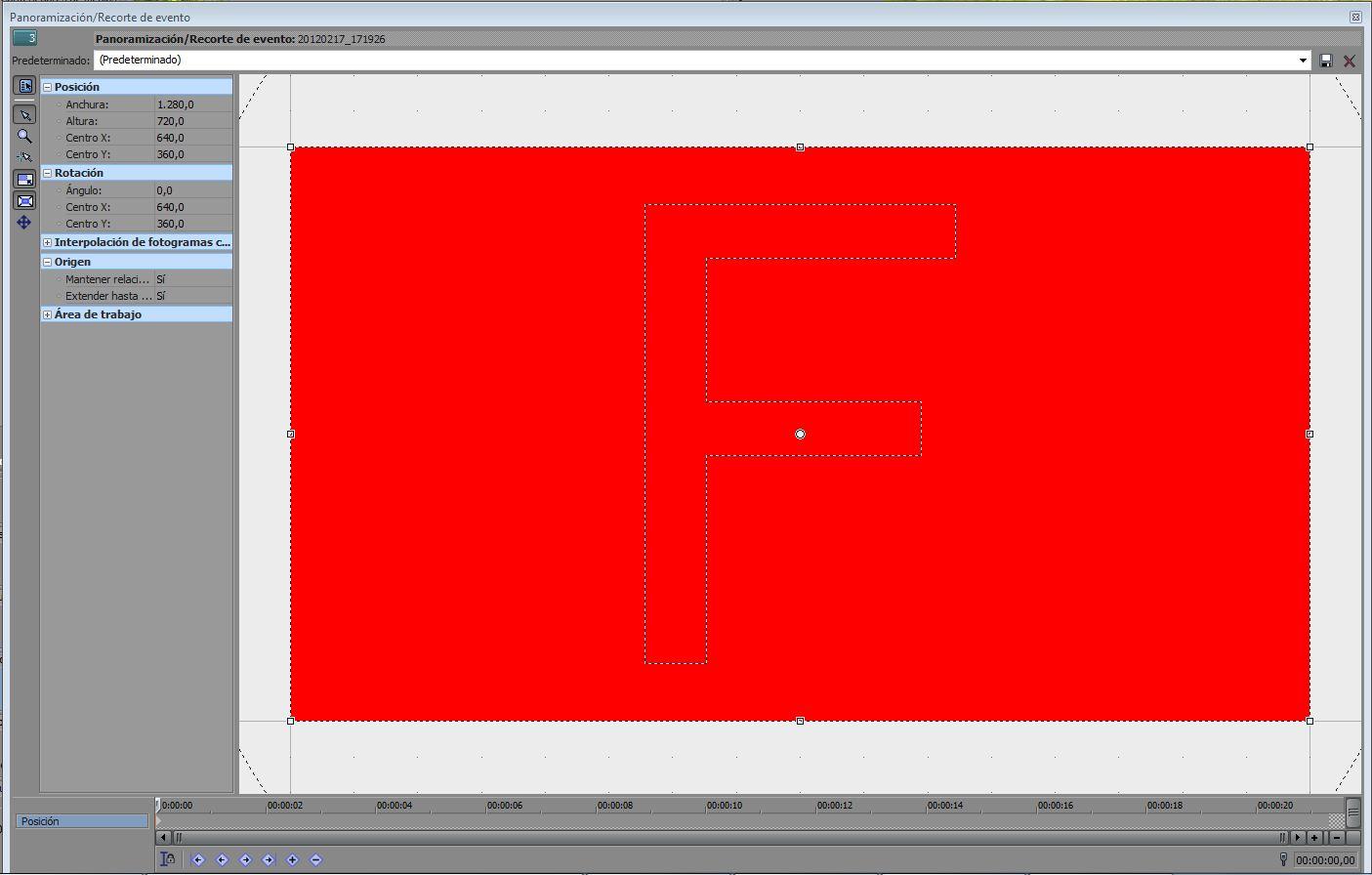 AYTUTO: Hacer zoom en una zona de la pantalla con SONY VEGAS
