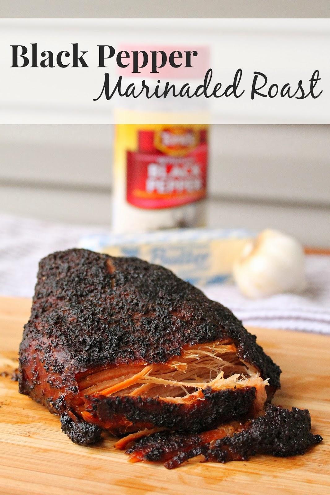 Black Pepper Marinaded Roast via @labride