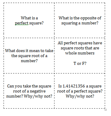 Square Roots & Perfect Squares ~ TJ Homeschooling