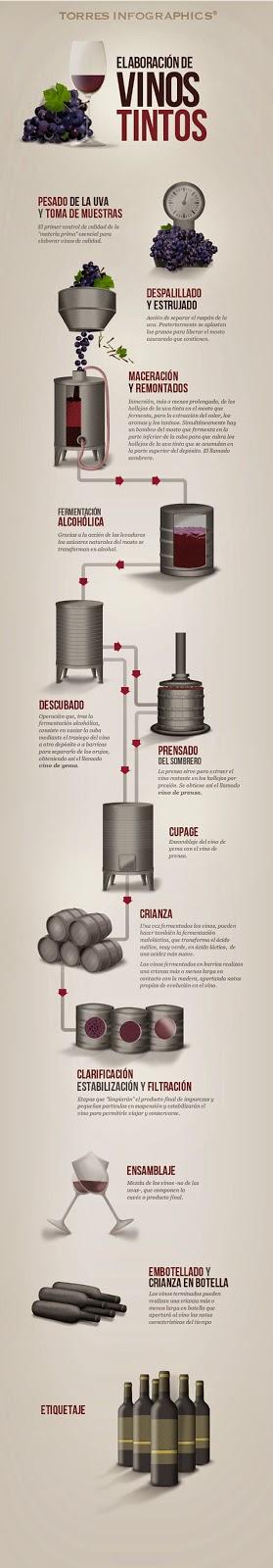 Infografía Vino tinto de Torres