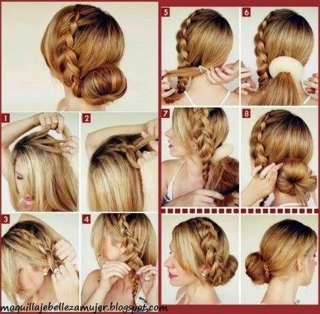 Peinados Peinados con trenzas faciles paso a paso  - Peinados Con Trenzas Pelo Largo