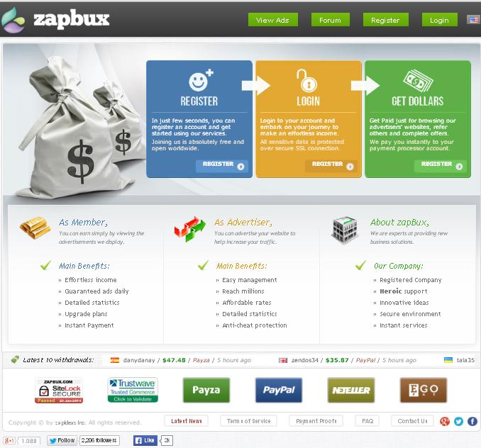 zapBux Site
