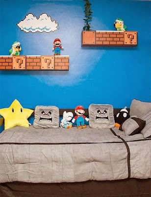 Super Mario Bros. themed bedroom