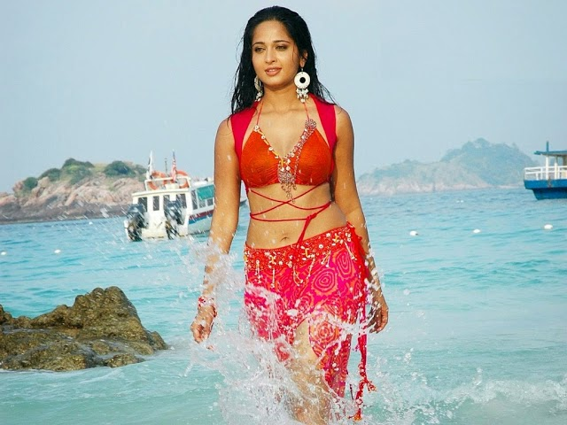 anushka shetty bikini red dress hot sexy photos download