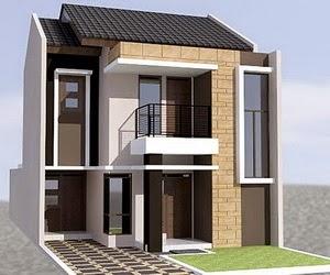 Model Desain Denah dan Gambar Rumah Minimalis 2 lantai