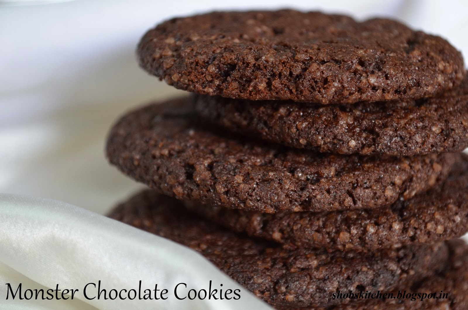 ShobsKitchen: Monster Chocolate Cookies