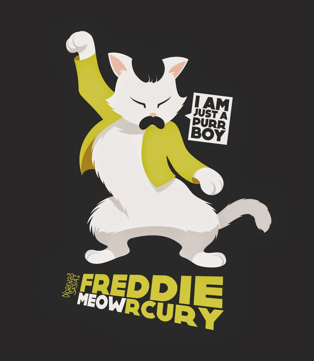 Freddy Meowrcury by Lorenzo Sabia