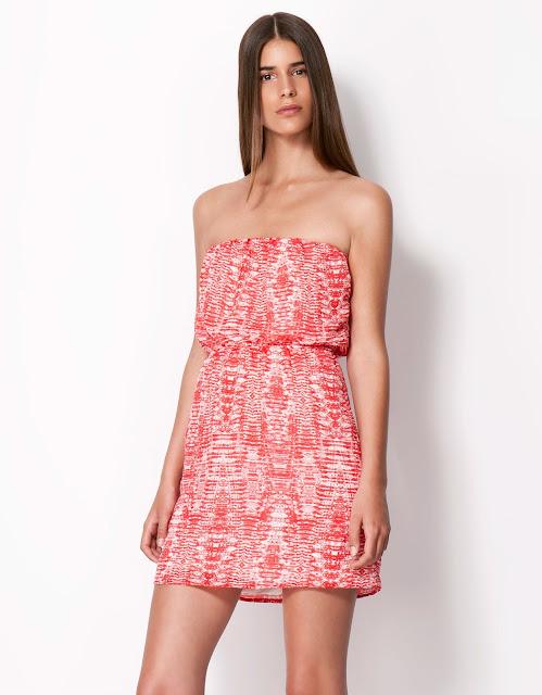 straplez kırmızı, pembe beyaz kısa mini elbise
