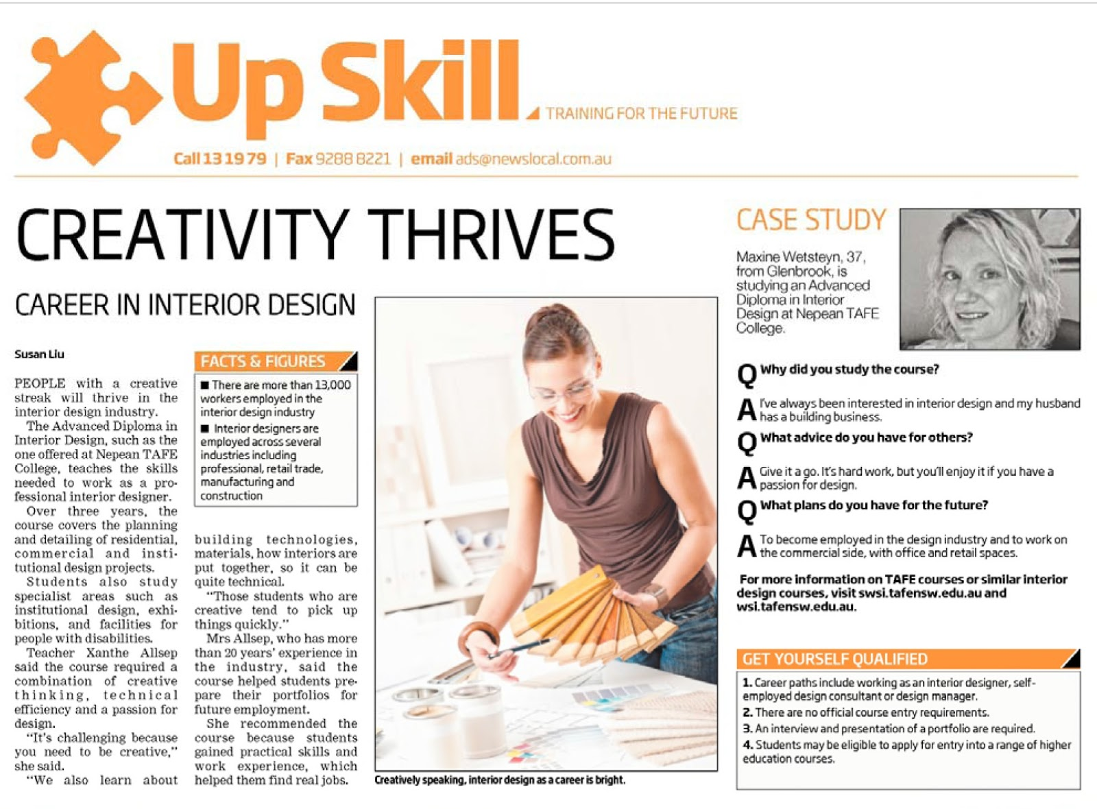 Marvelous Article Includes An Interview With Xanthe Allsep, Interior Design Teacher  And Maxine Wetsteyn, Student In Advanced Diploma Interior Design Both At  Nepean ...