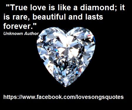 Diamond Quotes Amazing Diamond Love Love Quotes And Songs
