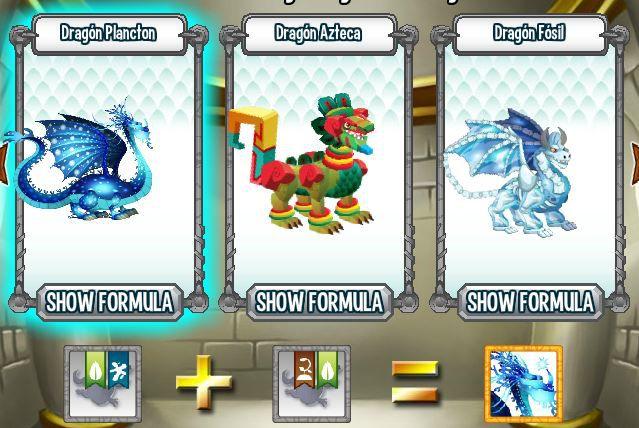 investigando formula para aparear dragon plancton en la cripta de deus