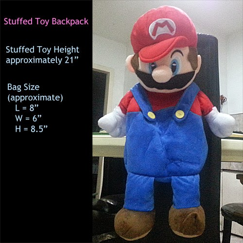 super mario stuffed toy backpack