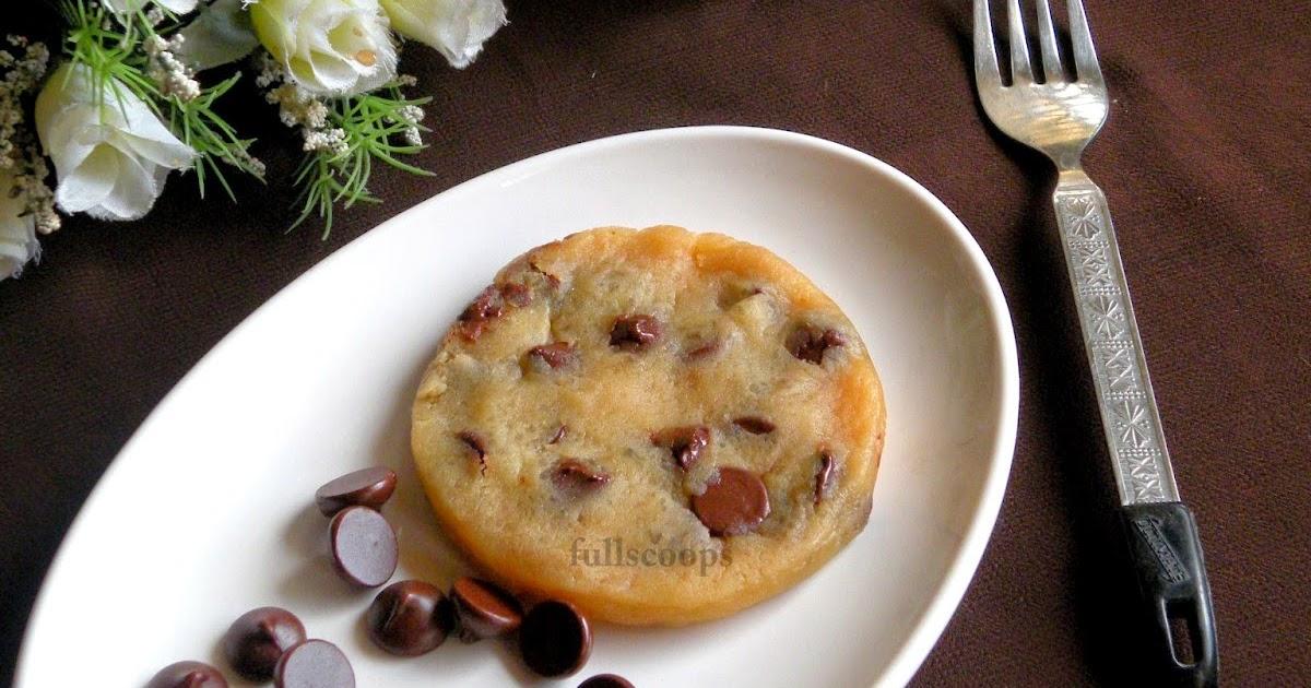 Eggless Chocolate Chip Cookie Cake