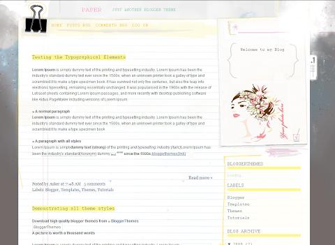 Paper Blogger Theme