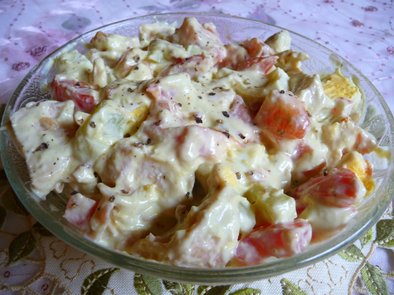 ... LOW-CARBING BY JENNIFER ELOFF: CHICKEN SALAD WITH AVOCADO DRESSING