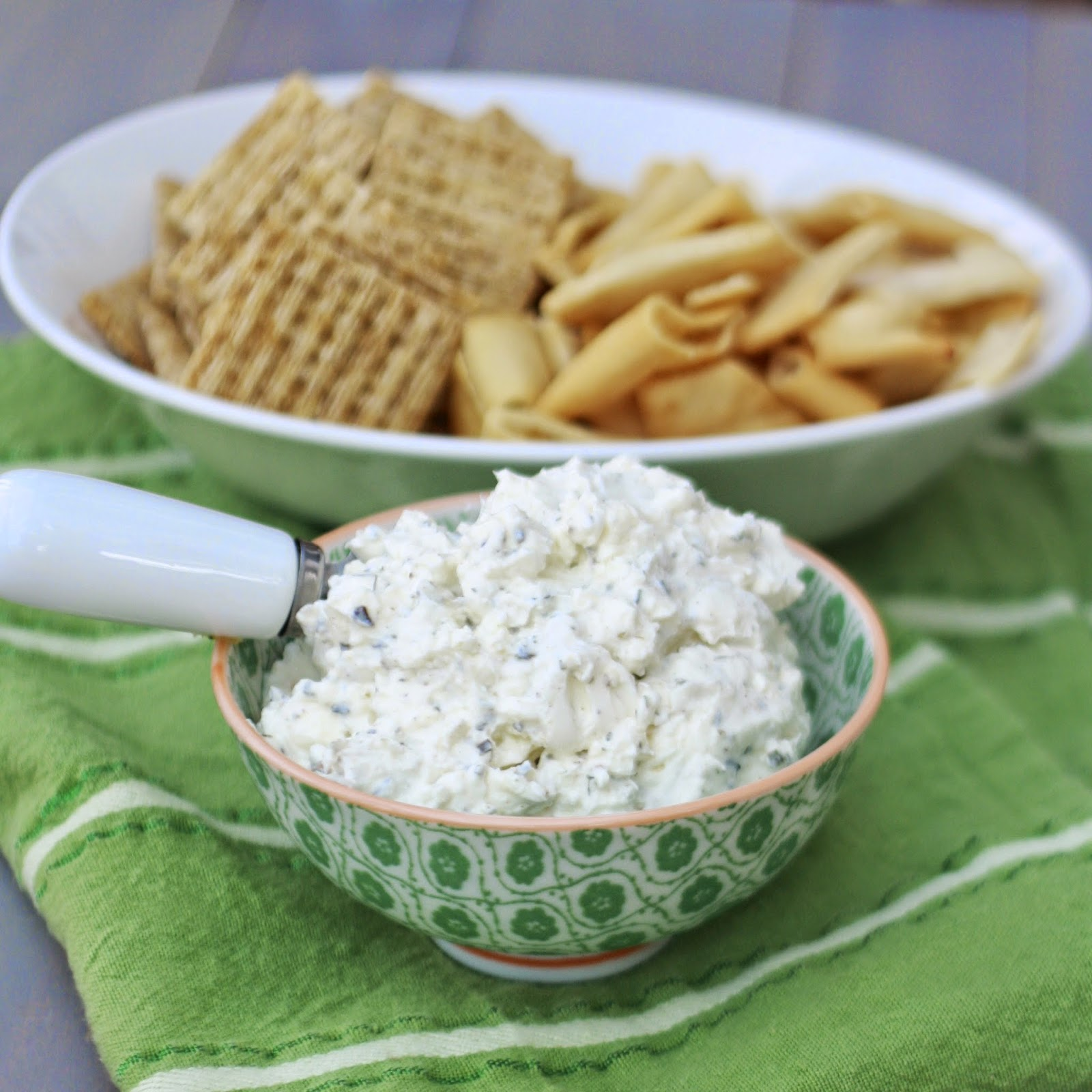 Garlic Feta Cheese Dip | The Sweets Life