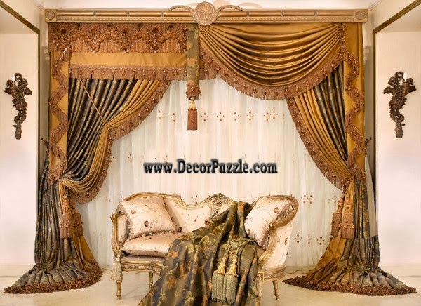 luxury curtains and drapes in classic style 2015 for royal living room