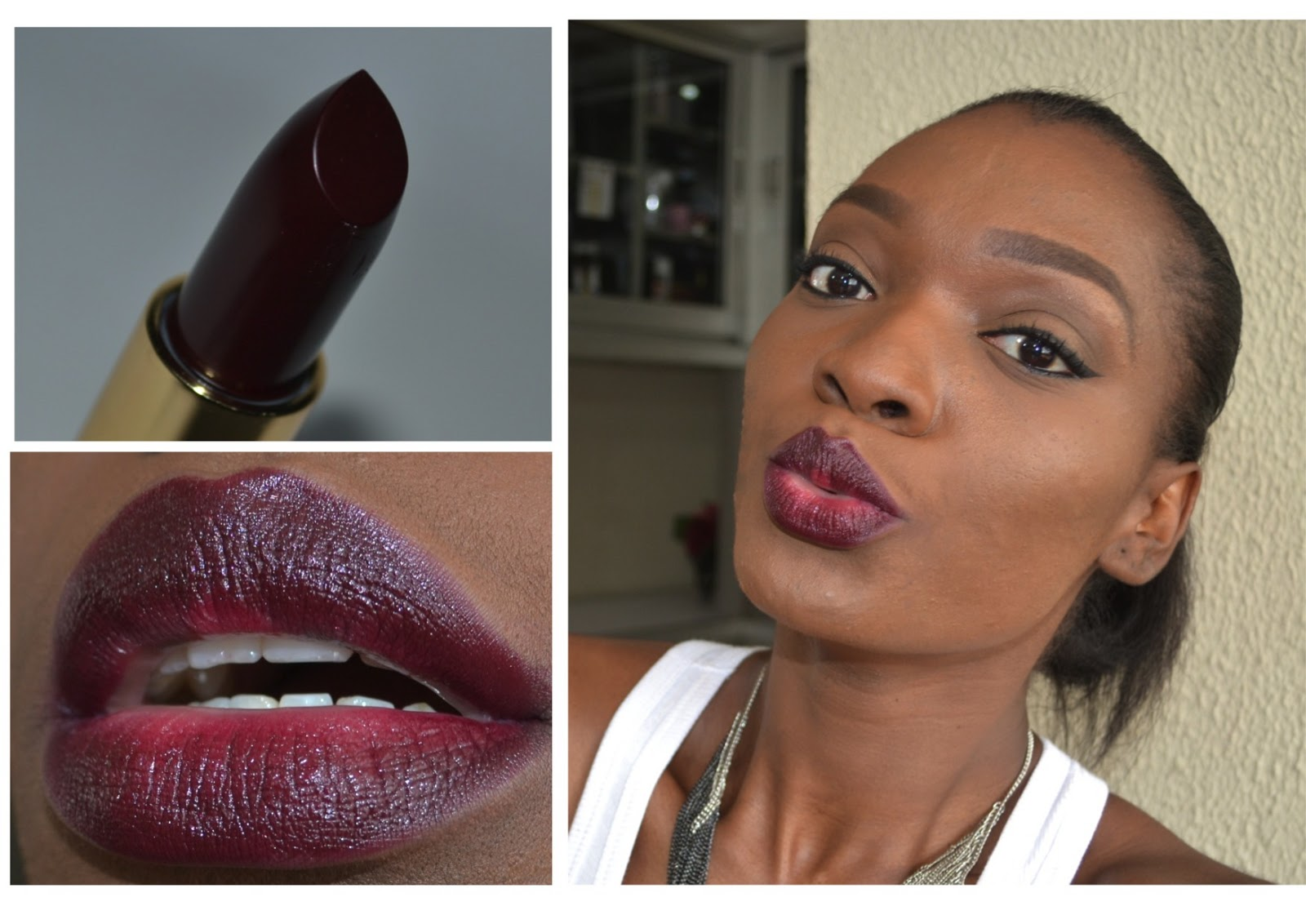 If you are not bold enough to go full on with a dark lip try fading it