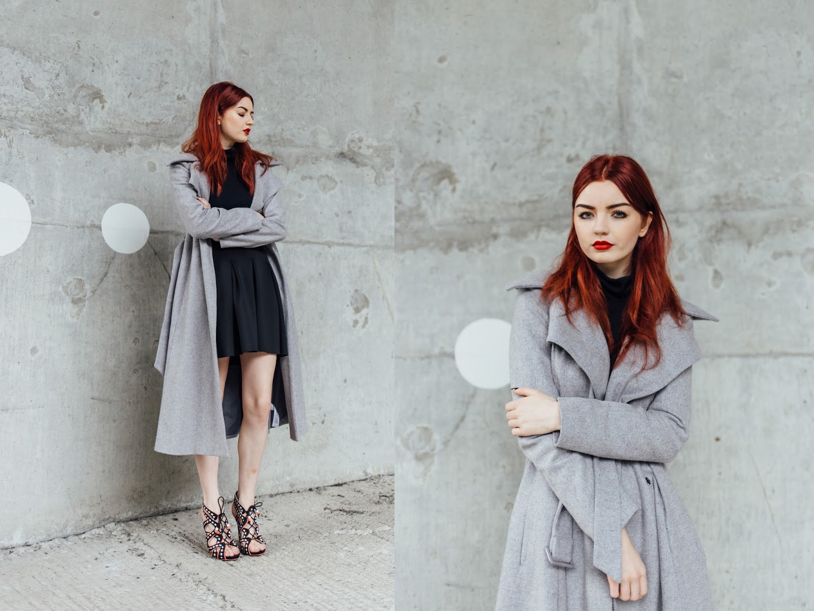 grey tailored coat