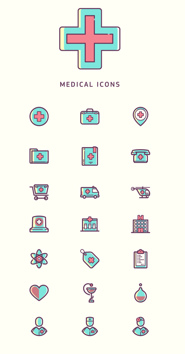 Medical icons - free
