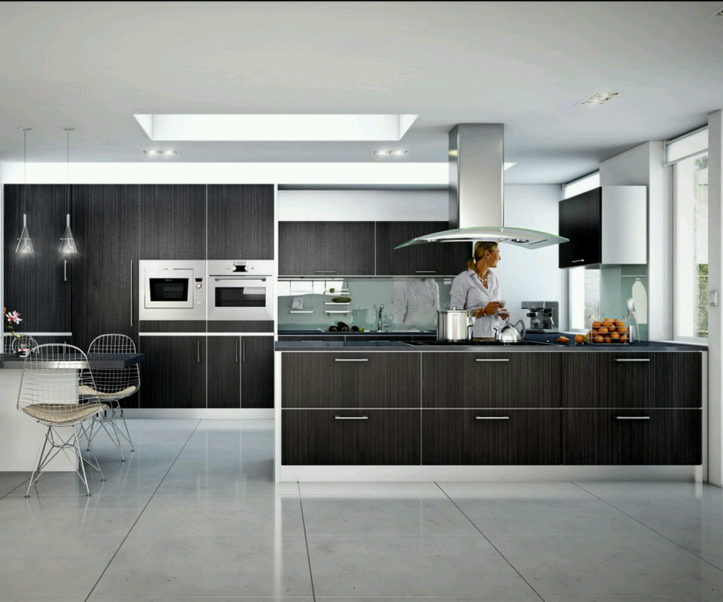 Rumah rumah minimalis modern homes ultra modern kitchen for Kitchen design and layout ideas