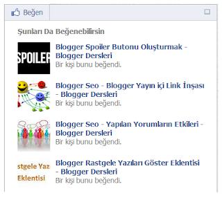 Blogger Facebook Öneriler Kutusu