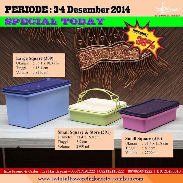 Special Today, Promo Harian, Promo Hari Ini Tulipware Tupperware Desember 2014