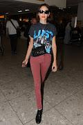Alexa Chung at Heathrow Airport, London (preppie alexa chung at heathrow airport lo)