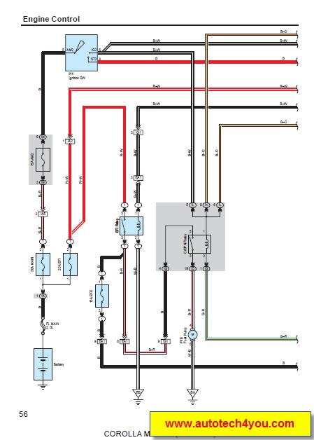 Wiring Diagram Toyota Corolla 2013 : Toyota corolla matrix service manual