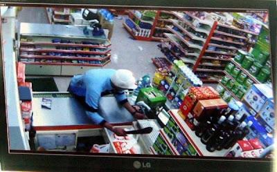 Aksi penjenayah dirakam CCTV