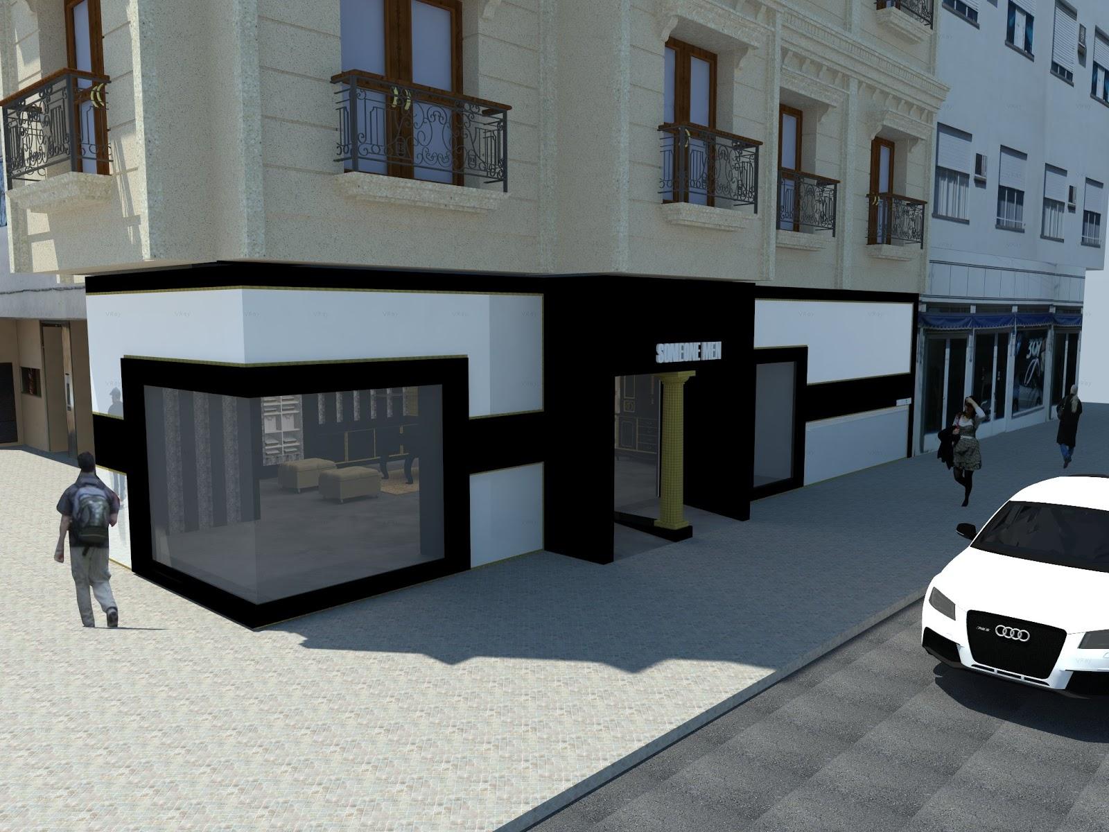 Dise o de interiores escuela de arte de motril tienda de for Fachadas de almacenes modernos