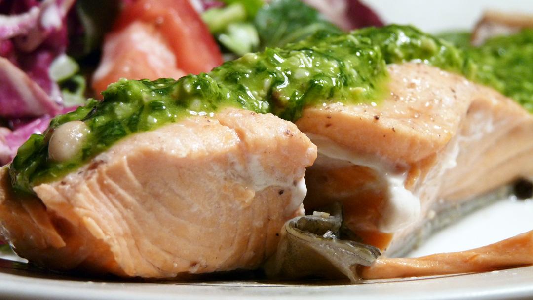 Libra Loves: Wild Alaskan Coho Salmon with Basil-Lime Pesto