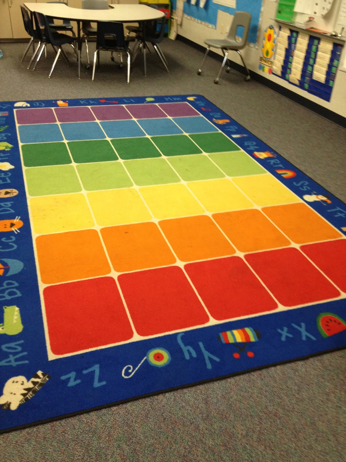 Kindergarten corps back to school basics the classroom for Classroom rug